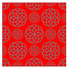 Geometric Circles Seamless Pattern Large Satin Scarf (Square)