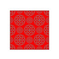 Geometric Circles Seamless Pattern Satin Bandana Scarf