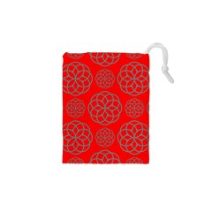 Geometric Circles Seamless Pattern Drawstring Pouches (XS)