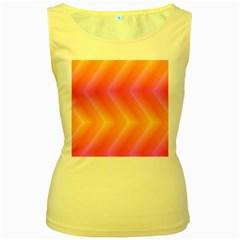 Pattern Background Pink Orange Women s Yellow Tank Top