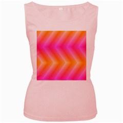 Pattern Background Pink Orange Women s Pink Tank Top