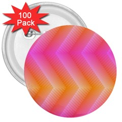 Pattern Background Pink Orange 3  Buttons (100 pack)