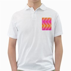 Pattern Background Pink Orange Golf Shirts