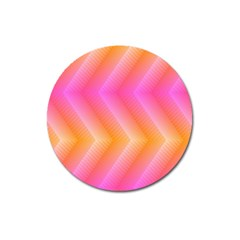 Pattern Background Pink Orange Magnet 3  (Round)