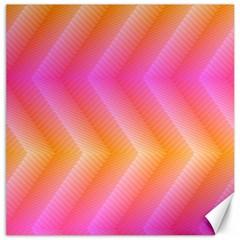 Pattern Background Pink Orange Canvas 16  X 16