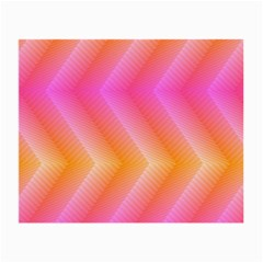 Pattern Background Pink Orange Small Glasses Cloth (2-Side)