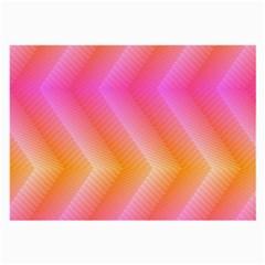 Pattern Background Pink Orange Large Glasses Cloth (2-Side)