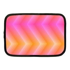 Pattern Background Pink Orange Netbook Case (Medium)