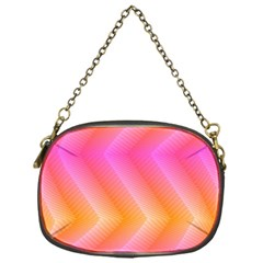 Pattern Background Pink Orange Chain Purses (One Side)