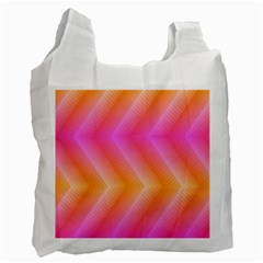 Pattern Background Pink Orange Recycle Bag (Two Side)