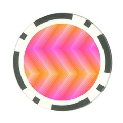 Pattern Background Pink Orange Poker Chip Card Guard (10 Pack)