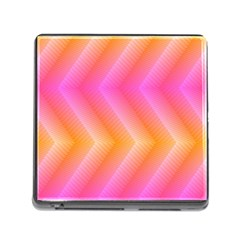 Pattern Background Pink Orange Memory Card Reader (square)
