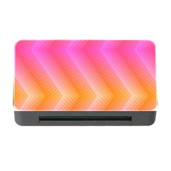 Pattern Background Pink Orange Memory Card Reader with CF