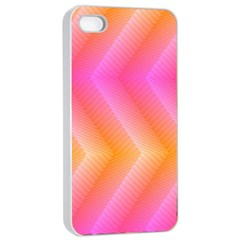 Pattern Background Pink Orange Apple iPhone 4/4s Seamless Case (White)