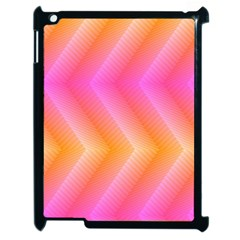 Pattern Background Pink Orange Apple iPad 2 Case (Black)