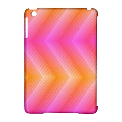 Pattern Background Pink Orange Apple iPad Mini Hardshell Case (Compatible with Smart Cover)