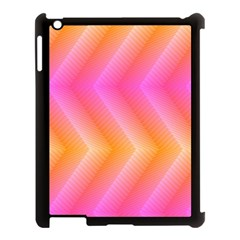 Pattern Background Pink Orange Apple iPad 3/4 Case (Black)
