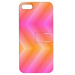Pattern Background Pink Orange Apple iPhone 5 Hardshell Case with Stand