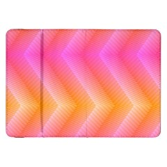 Pattern Background Pink Orange Samsung Galaxy Tab 8.9  P7300 Flip Case