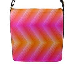 Pattern Background Pink Orange Flap Messenger Bag (l)