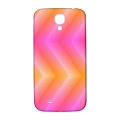 Pattern Background Pink Orange Samsung Galaxy S4 I9500/i9505  Hardshell Back Case
