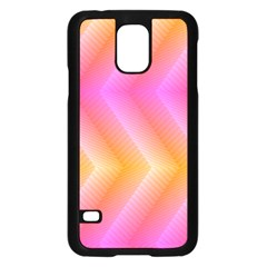 Pattern Background Pink Orange Samsung Galaxy S5 Case (Black)