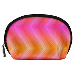 Pattern Background Pink Orange Accessory Pouches (large)