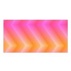 Pattern Background Pink Orange Satin Shawl