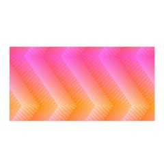 Pattern Background Pink Orange Satin Wrap