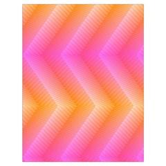 Pattern Background Pink Orange Drawstring Bag (Large)