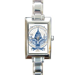 Presidential Inauguration USA Republican President Trump Pence 2017 Logo Rectangle Italian Charm Watch