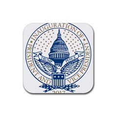 Presidential Inauguration USA Republican President Trump Pence 2017 Logo Rubber Coaster (Square)