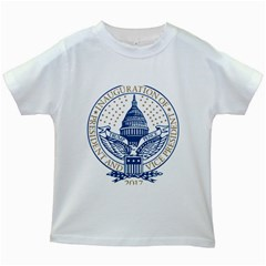Presidential Inauguration USA Republican President Trump Pence 2017 Logo Kids White T-Shirts