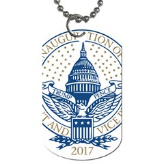 Presidential Inauguration USA Republican President Trump Pence 2017 Logo Dog Tag (One Side)