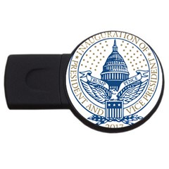 Presidential Inauguration USA Republican President Trump Pence 2017 Logo USB Flash Drive Round (1 GB)