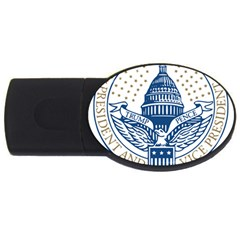Presidential Inauguration USA Republican President Trump Pence 2017 Logo USB Flash Drive Oval (2 GB)