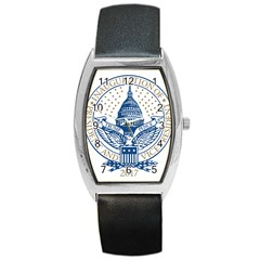 Presidential Inauguration USA Republican President Trump Pence 2017 Logo Barrel Style Metal Watch