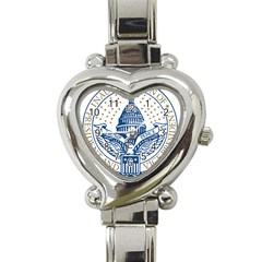 Presidential Inauguration USA Republican President Trump Pence 2017 Logo Heart Italian Charm Watch