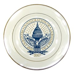 Presidential Inauguration Republican President Trump Pence 2017 Logo Porcelain Display Plate