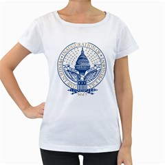 Presidential Inauguration USA Republican President Trump Pence 2017 Logo Women s Loose-Fit T-Shirt (White)