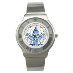 Presidential Inauguration USA Republican President Trump Pence 2017 Logo Stainless Steel Watch