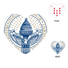 Presidential Inauguration USA Republican President Trump Pence 2017 Logo Playing Cards (Heart)