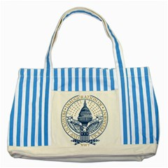 Presidential Inauguration USA Republican President Trump Pence 2017 Logo Striped Blue Tote Bag