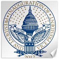Presidential Inauguration USA Republican President Trump Pence 2017 Logo Canvas 12  x 12
