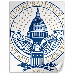 Presidential Inauguration USA Republican President Trump Pence 2017 Logo Canvas 12  x 16