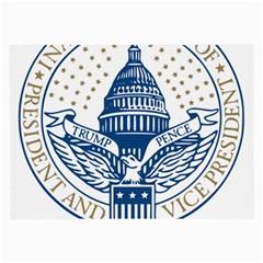 Presidential Inauguration USA Republican President Trump Pence 2017 Logo Large Glasses Cloth