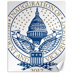 Presidential Inauguration USA Republican President Trump Pence 2017 Logo Canvas 11  x 14