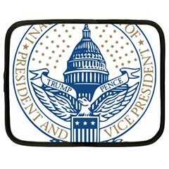 Presidential Inauguration USA Republican President Trump Pence 2017 Logo Netbook Case (Large)