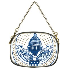 Presidential Inauguration USA Republican President Trump Pence 2017 Logo Chain Purses (One Side)