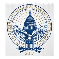 Presidential Inauguration USA Republican President Trump Pence 2017 Logo Shower Curtain 66  x 72  (Large)